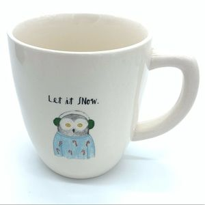 "Rae Dunn - ""LET IT SNOW"" - Owl Mug"